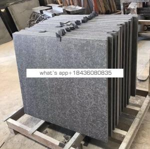 600x600 Flamed+Broshed Chinese Black Basalt/Granite Cut-to-size Tile
