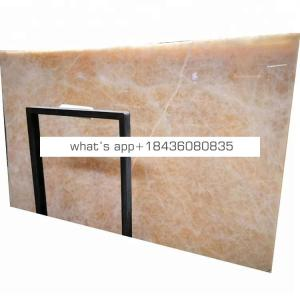 Backlit marble decorative beige table top onix gold onyx jade slabs