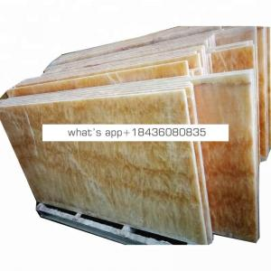 Backlit panel yellow onice onix marble honey onyx
