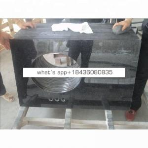 Best price china natural stone prefab black galaxy granite countertop