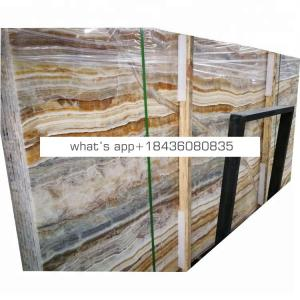 Best price translucent panel natural onice wood grain yellow onyx marble