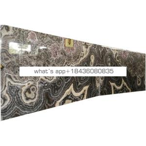 Big size translucent marble stone black grey natural onyx slabs
