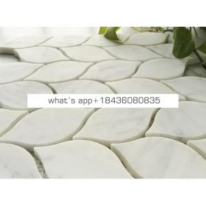 Carrara marble leaf shape mosaic tile natural stone mosaic for wall