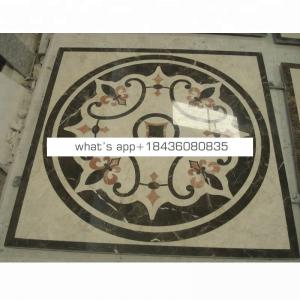 Cheap price natural stone water jet tile marble floor medallions designs