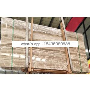 Cheap price petrify translucent travertine marble brown slab wooden onyx