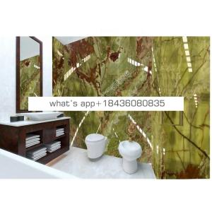 China marble price backlit bathroom wall natural stones green onyx tiles