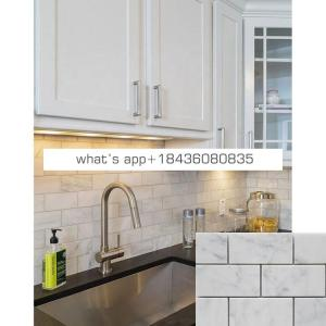 China natural white marble wall mosaic kitchen backsplash tiles