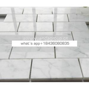 China white natural stone mosaic backsplash tiles for bathroom
