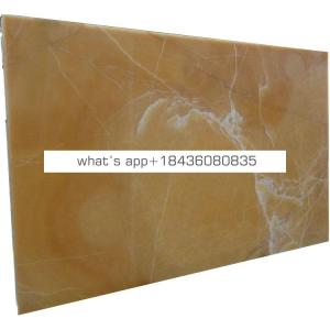 Chinese good price bathroom flooring orange yellow marble slabs onyx honey