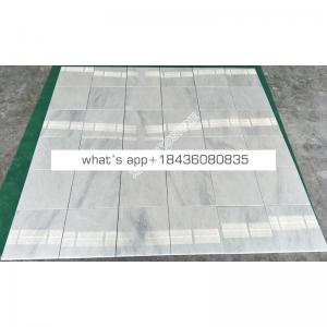 Chinese thin grey vein eastern white bathroom flooring marble veneer tile