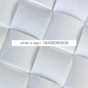 Custom shaped wall backsplash tile designs white marble 3d mosaic