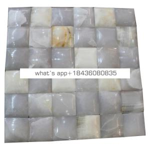 Decoration home backsplash wall tile white marble onyx premium mosaics