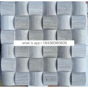 Decoration marble types stickers arc-shaped wall cube 3d mosaic tiles