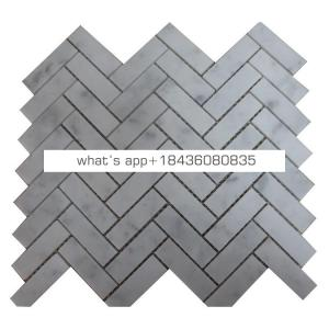 Decorative 30x30 carrara white chevron bathroom marble mosaic tile
