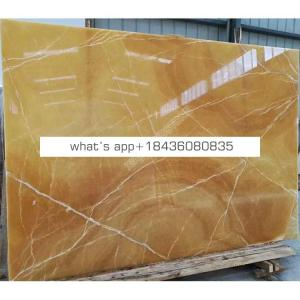 Factory price 1.8cm thickness backlit panel yellow marble honey onyx slabs