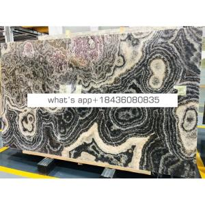 Good price China backlit decoration stone slab natural black onyx marble