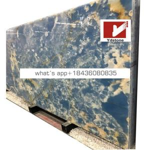Good prices natural decorative agate stone wall blue onyx marble tile