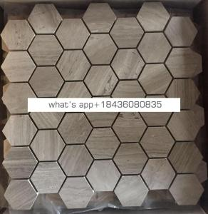 Hot sale natural wall floor stone marble mosaic tile with mesh-back