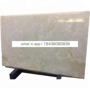 Natural jade onice slab panel marble price backlit pure white onyx