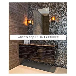 Onyx stone mother of pearl decorative panel mosaic bathroom tile wall