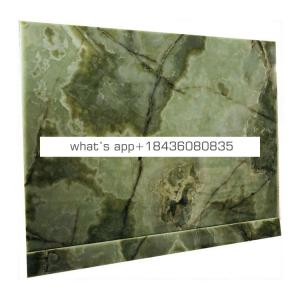 Stone cladding onice translucent marble slab gold vein green jade onyx
