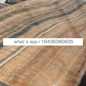 Table texture cheap price honey cappuccino onyx slab