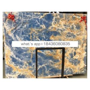 Top quality m2 price translucent onyx wall cladding blue onyx marble