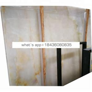 Wall cladding onice translucent ice white marble onyx