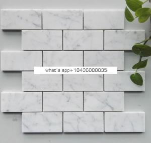 White marble simple kitchen backsplash tiles mosaic