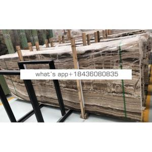 Wholesale brown travertine wooden jade marble natural onyx stone price