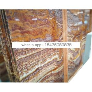 Wholesale prices bedroom decor tiger marble stone sheet slab brown onyx marble