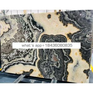 Wholesale prices kitchen stone tile slab table top black onyx countertops