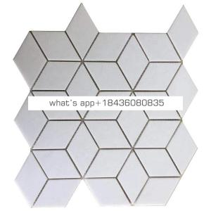 Yugoslavia pure white marble diamond mosaic kitchen tile backsplash